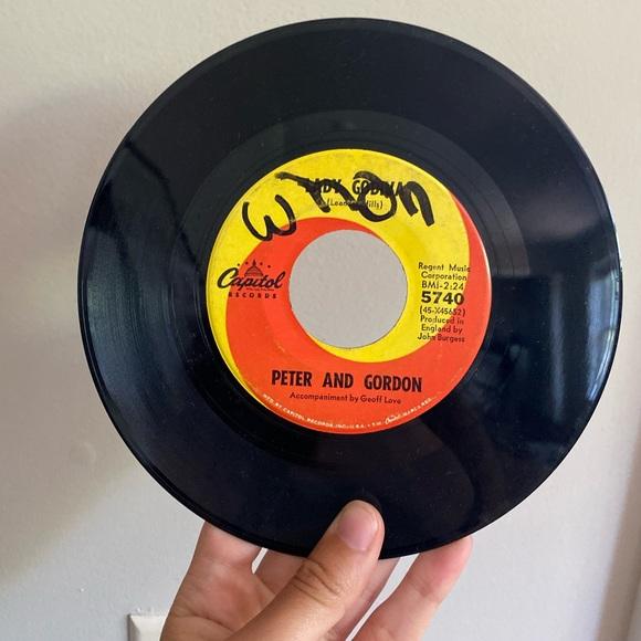 Vintage Other - PETER AND GORDON 45 VINYL